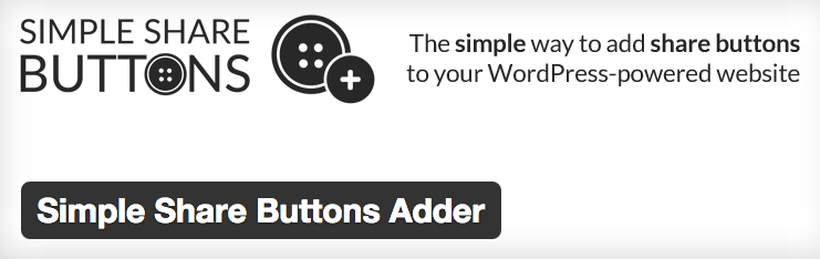 Simple Share Buttons Adder