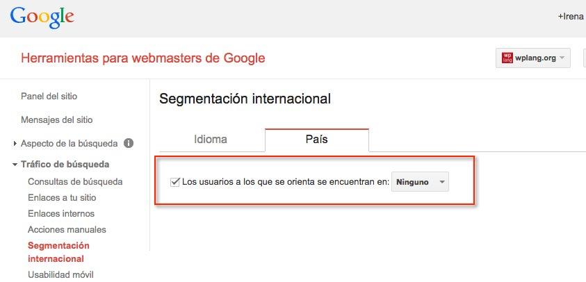 Sitio web sin ninguna orientación geográfica