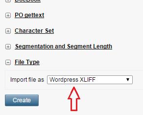 Wordpress-XLIFF Memsource