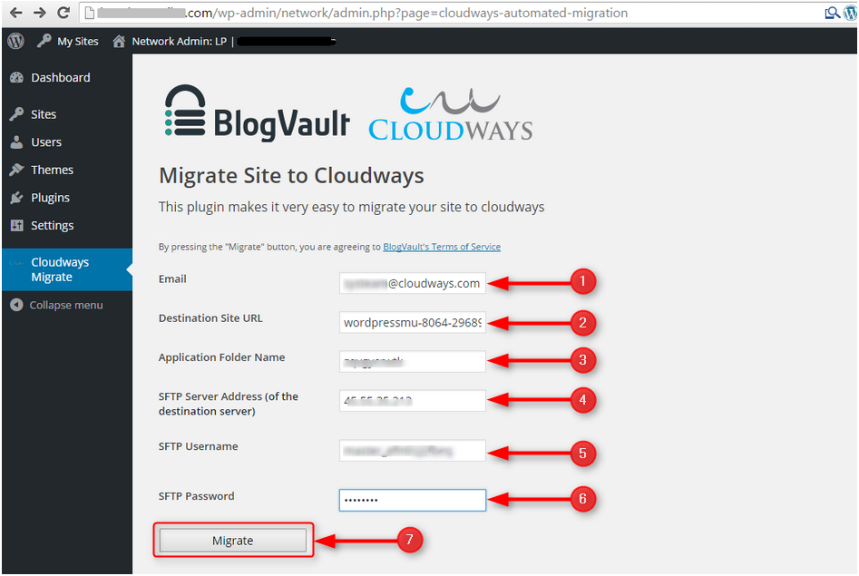 Cloudways - migrator plugin