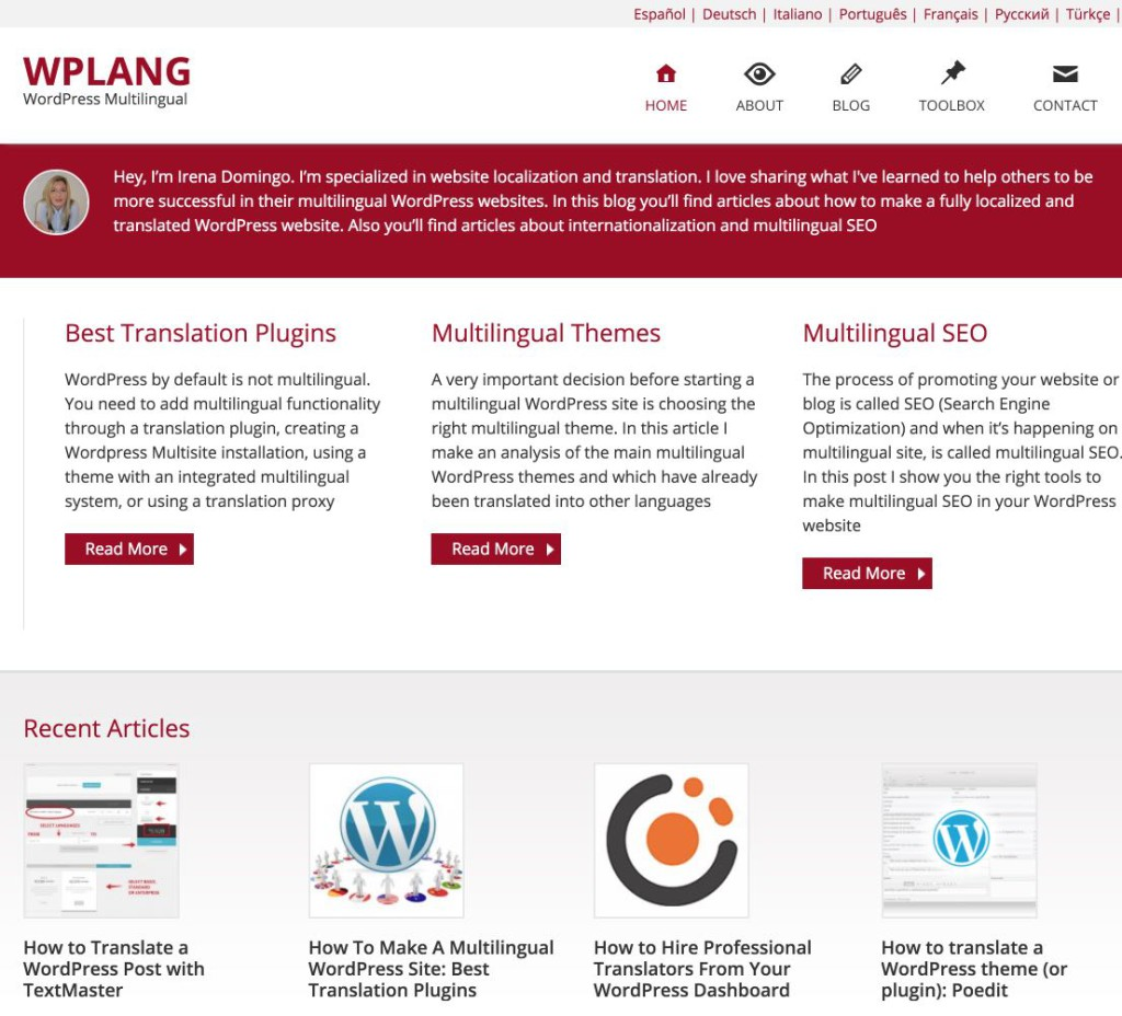 WordPress Multilingüe | WPLANG