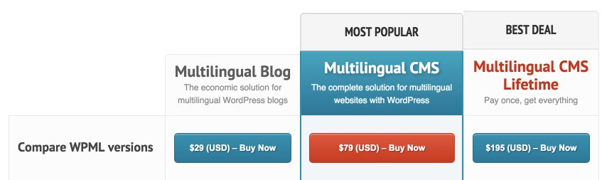 WPML Price