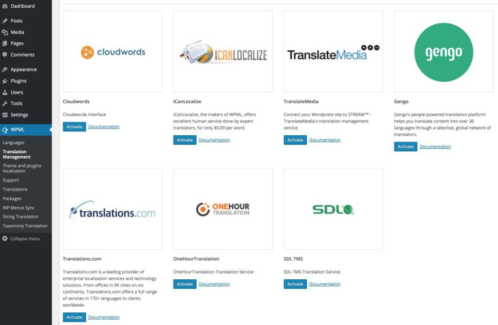 Servicios de traducción WPML